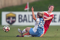 Boyds, MD - Saturday April 29, 2017: Camille Levin, Alyssa Kleiner during a regular season National Women's Soccer League (NWSL) match between the Washington Spirit and the Houston Dash at Maureen Hendricks Field, Maryland SoccerPlex.