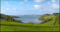 BNPS.co.uk (01202) 558833<br /> Picture: Bonhams<br /> <br /> A view from the house overlooks the River Fal<br /> <br /> It is the ultimate garden sale -- The aristocrat Cunliffe-Copeland family are auctioning off millions of pounds of antiques in a unique sale of the entire contents of their stately home Trelissick House near Truro in Cornwall. For generations the family have filled the magnificent The 18th century manor with treasures acquired from travels around the globe.<br /> <br /> 58 years ago the house was left to the National Trust on the condition members of the family could carry on living in the property. But the current incumbent, William Copeland and wife Jennifer, have decided to buy a normal-sized family home and are unable to take the hundreds of heirlooms with them. So they are holding a two-day sale of ancient ornaments, paintings, furniture, jewellery, silverware, books, rugs and wine in the grounds of Trelissick House, near Truro, later this month, and hope to raise &pound;3million