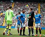 29.04.18 Celtic v Rangers: Alfredo Morelos booked