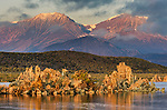 Morning light on mountains and tufa on the South Shore of Mono Lake, Mono County, Eastern Sierra, California