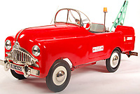 BNPS.co.uk (01202 558833)<br /> Pic: EastBristolAuctions/BNPS<br /> <br /> £3,000 - An incredibly rare vintage 1960's believed prototype Tri-ang Centurion Breakdown Truck child's pedal car. <br />   <br /> Toy story...<br /> <br /> A remarkable lifetime collection of 30 vintage toy cars has emerged for sale for more than £65,000.<br /> <br /> The fleet of rare pedal cars were acquired over almost half a century by retired car garage owner David Worrow, 72.<br /> <br /> During their time with Mr Worrow they formed what was believed to be the biggest private collection of its kind in the world.