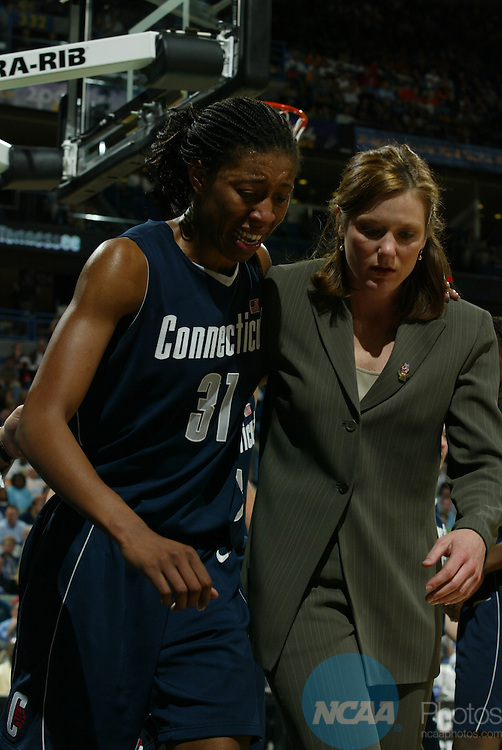 06 APR 2004:  The Division I Women's Basketball Semifinals take place in New Orleans, LA.  Jamie Schwaberow/NCAA Photos