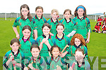 Abbelix under ten team that took part in the hurling bliz in Kilmoyley sports grounds on Sunday were from front l-r Chloe Sheehan, Rachael McCarthy, Aisling O'Mahony, Ciara Quinlan.  Middle row l-r Laura O'Connell. Siobha?n Pierce, Sophie Cotter and Maura Trant.  Back l-r Aideen Spillane, Olivia Stack, Sarah Stack, Lilon Lepnnce and Aiofe Behan..   Copyright Kerry's Eye 2008