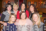 Staff members from Scoil Mhathair De, Abbeyfeale enjoying a belated Christmas night out in Leen's Hotel, Abbeyfeale last Friday night. F l-r: Miriam Joy, Ciara Cotter, Sarah Fullam. B l-r: Noreen Semple, Helen Lennihan, Mags Scannell and Nora Reidy.