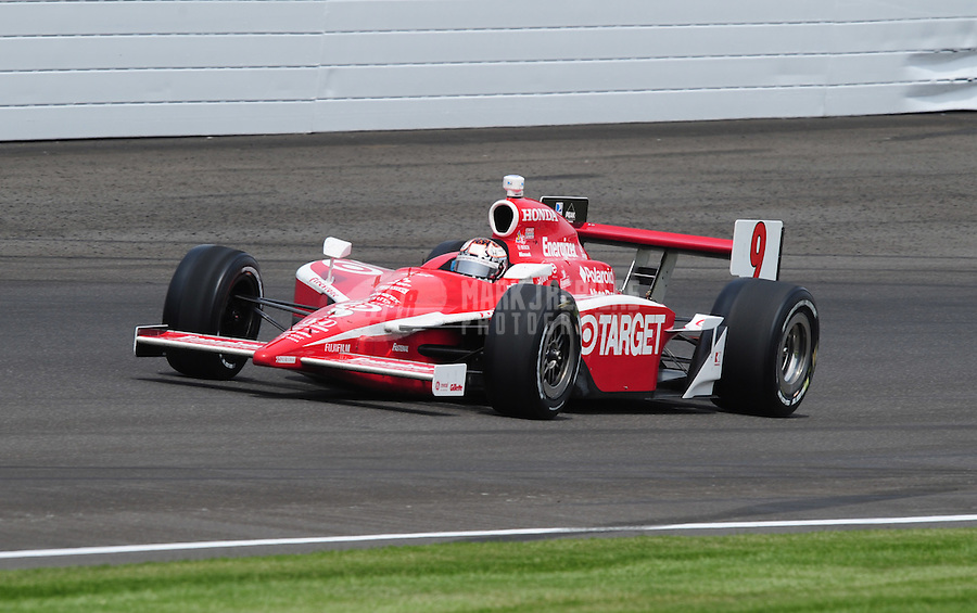 May 25, 2008; Indianapolis, IN, USA; IRL driver Scott Dixon during the 92nd running of the Indianapolis 500 at the Indianapolis Motor Speedway. Mandatory Credit: Mark J. Rebilas-