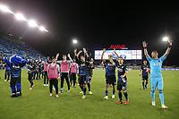 San Jose, CA - Saturday May 06, 2017: San Jose Earthquakes  after a Major League Soccer (MLS) match between the San Jose Earthquakes and the Portland Timbers at Avaya Stadium.