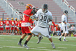 Mission Viejo, CA 05/14/11 - Robbie Romero (Mission Viejo #1) and Will Maners (Loyola #30) in action during the Division 2 US Lacrosse / CIF Southern Section Championship game between Mission Viejo and Loyola at Redondo Union High School.