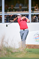 Jon Rahm (ESP) watches his tee shot on 16 during round 6 of the World Golf Championships, Dell Technologies Match Play, Austin Country Club, Austin, Texas, USA. 3/26/2017.<br /> Picture: Golffile | Ken Murray<br /> <br /> <br /> All photo usage must carry mandatory copyright credit (&copy; Golffile | Ken Murray)