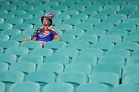 Salvador, Brazil - Tuesday, July  1, 2014: The USMNT vs Belgium in the 2014 World Cup at Arena Fonte Nova. A USA fan sits in the stands after them match.