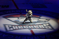 Chubby the Checker during a Charlotte Checker minor league hockey game at Time Warner Cable Arena in Charlotte, NC.