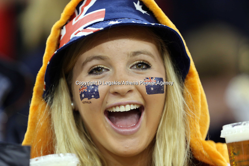 Pictured: A female Australia supporter.Saturday 08 November 2014<br />