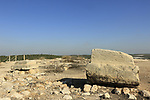 Israel,Tel Lachish, site of the biblical city Lachish, column base at the Israelite palace
