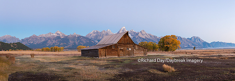 67545-08806 Sunrise at T.A. Moulton Barn, Grand Teton National Park, WY