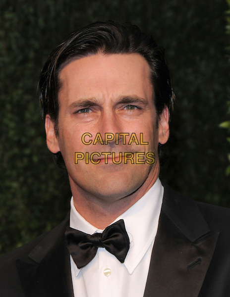 JON HAMM .at The 2009 Vanity Fair Oscar Party held at The Sunset Tower Hotel in West Hollywood, California, USA, .February 22nd 2009                                                                                      .oscars after party portrait headshot black john tux tuxedo bow tie .CAP/DVS.©Debbie VanStory/Capital Pictures