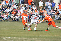 University of Virginia men's lacrosse player George Huguely (11) play against Syracuse April 7, 2010.  George Huguely, 22, a fourth-year student from Chevy Chase, Md., has been charged with first-degree murder in the death of UVa women's lacrosse player Yeardley Love, 22, a fourth-year student from Cockeysville, Md., that took place early Monday morning May 3, 2010 in Charlottesville, Va. Photo/Andrew Shurtleff
