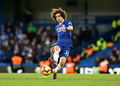 2nd February 2019, Stamford Bridge, London, England; EPL Premier League football, Chelsea versus Huddersfield Town; David Luiz of Chelsea passing the ball into midfield