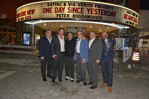 CORAL GABLES, FL - FEBRUARY 28: Fernando Zulueta, Victor Barroso, Producer / Director Brett Ratner, actor / director Peter Bogdanovich, Ignacio Zulueta and Director Bill Teck attend the Miami Premiere of RatPac Documentary Films One Day Since Yesterday: Peter Bogdanovich and the Lost American Film' followed by Q&A at Miracle Theater inside the Actors Playhouse on February 28, 2017 in Coral Gables, Florida. ( Photo by Johnny Louis / jlnphotography.com )