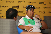 Defending Champion Kiradech Aphribarnet (THA) reflected on the recent death of his coach and the Eurasia Cup performance during the preview media interviews at the 2014 Maybank Malaysian Open at the Kuala Lumpur Golf & Country Club, Kuala Lumpur, Malaysia. Picture:  David Lloyd / www.golffile.ie