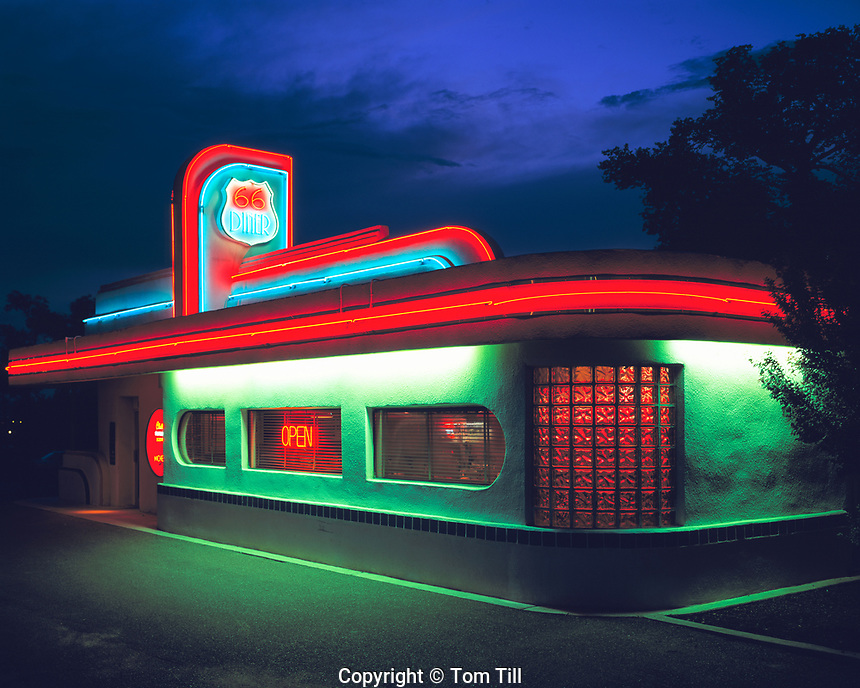 66 Diner, Along Old Route 66, Albuquerque, New Mexico, July 1999
