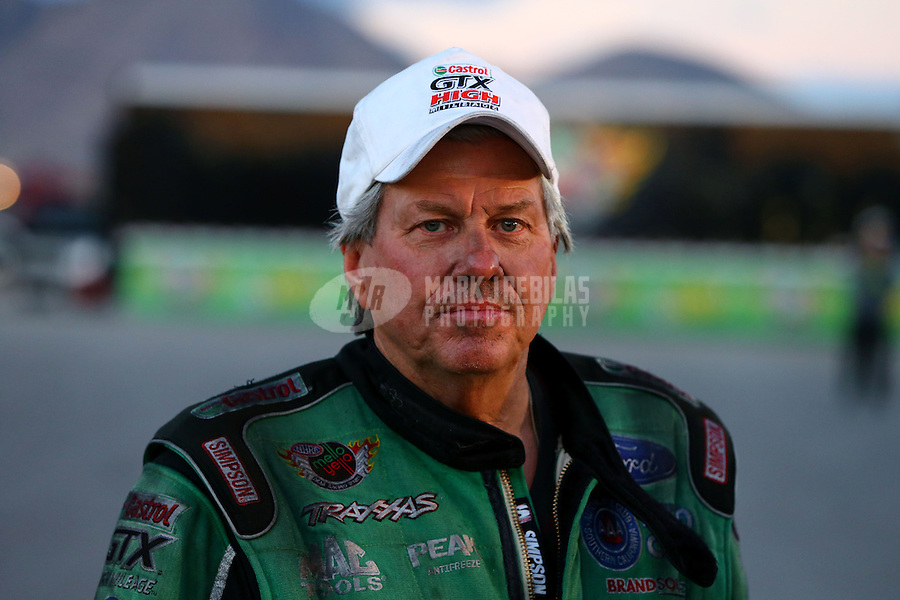 Nov 2, 2014; Las Vegas, NV, USA; NHRA funny car driver John Force during the Toyota Nationals at The Strip at Las Vegas Motor Speedway. Mandatory Credit: Mark J. Rebilas-USA TODAY Sports