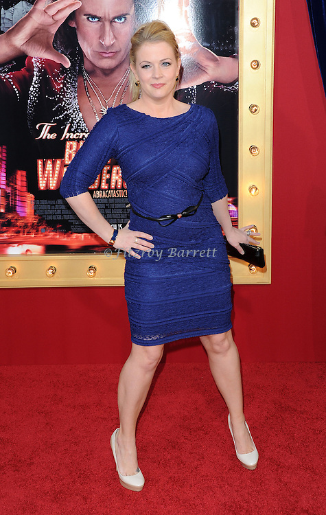 Melissa Joan Hart arriving at the world premiere of 'The Incredible Burt Wonderstone' held at the Chinese Theatre in Los Angeles, CA. March 11, 2013.