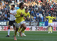 Blackburn Rovers' Bradley Dack celebrates scoring his side's first goal <br /> <br /> Photographer Rachel Holborn/CameraSport<br /> <br /> The EFL Sky Bet Championship - Bolton Wanderers v Blackburn Rovers - Saturday 6th October 2018 - University of Bolton Stadium - Bolton<br /> <br /> World Copyright © 2018 CameraSport. All rights reserved. 43 Linden Ave. Countesthorpe. Leicester. England. LE8 5PG - Tel: +44 (0) 116 277 4147 - admin@camerasport.com - www.camerasport.com