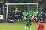 13.05.2018, SV Victoria Gersten e.V., Gersten, GER, FSP, Samtgemeideauswahl Lengerich vs SV Werder Bremen<br /> <br /> im Bild<br /> Ersatzbank Werder Bremen, G&uuml;nther / Guenther Stoxreiter (Athletik-Trainer Werder Bremen), Christian Vander (Torwart-Trainer SV Werder Bremen), Frank Baumann (Gesch&auml;ftsf&uuml;hrer Fu&szlig;ball Werder Bremen), Florian Kohfeldt (Trainer SV Werder Bremen), Jerome Gondorf (Werder Bremen #08), Marco Kaffenberger (SV Werder Bremen II #51), Philipp Eggersgl&uuml;&szlig; / Eggergluess (Werder Bremen U23 #21), Maximilian Eggestein (Werder Bremen #35), Florian Kainz (Werder Bremen #07), Jiri Pavlenka (Werder Bremen #01), <br /> Theodor Gebre Selassie (Werder Bremen #23), Jaroslav Drobny (Werder Bremen #33), <br /> <br /> Foto &copy; nordphoto / Ewert