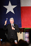 Former US president Bill Clinton speaks to a crowd of Hillary Clinton supporters that had assembled to watch the televised CNN debate between Democratic presidential candidates Hillary Clinton and Barack Obama, Feb. 21, 2008, at Sunset Station, San Antonio, Texas. (Darren Abate/PressPhotoIntl.com)