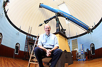 The University of Virginia astronomy observatory telescope.