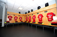 A general view of the away dressing room at the liberty stadium,  <br /> <br /> Photographer Ashley Crowden/CameraSport<br /> <br /> Guinness Pro14 Round 6 - Ospreys v Scarlets - Saturday 7th October 2017 - Liberty Stadium - Swansea<br /> <br /> World Copyright &copy; 2017 CameraSport. All rights reserved. 43 Linden Ave. Countesthorpe. Leicester. England. LE8 5PG - Tel: +44 (0) 116 277 4147 - admin@camerasport.com - www.camerasport.com