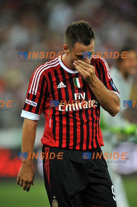 """Antonio CASSANO (Milan ).Bari 18/8/2011 Stadio """"San Nicola"""".Trofeo TIM.Football Calcio Inter Vs Juventus Vs Milan.Foto Insidefoto Alessandro Sabattini..."""
