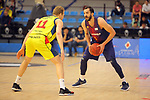 XXXVIII Lliga Nacional Catalana ACB 2017.<br /> FC Barcelona Lassa vs BC Morabanc Andorra: 89-70.<br /> Jaka Blazic vs Pau Ribas.