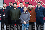 John LaFerla, Joey Weeks, Jamie Kelly and Monica Ryan of FEXCO with  ITT students Sam Dowling and Jame O'Gara at Recfest on Abbey Street on Thursday