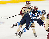 Meagan Mangene (BC - 24), Audra Richards (Maine - 21) - The Boston College Eagles defeated the visiting University of Maine Black Bears 5 to 1 on Sunday, October 6, 2013, in their Hockey East season opener at Kelley Rink in Conte Forum in Chestnut Hill, Massachusetts.