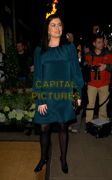 AMANDA LAMB.Lavender Trust Party, Claridge's Hotel, London, UK..March 14th, 2007.full length blue dress black tights.CAP/CAN.©Can Nguyen/Capital Pictures
