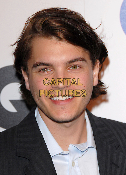 EMILE HIRSCH.The 2007 GQ Men of the Year Celebration at Chateau Marmont in West Hollywood, California, USA. .December 5th, 2007 .headshot portrait .CAP/DVS.©Debbie VanStory/Capital Pictures