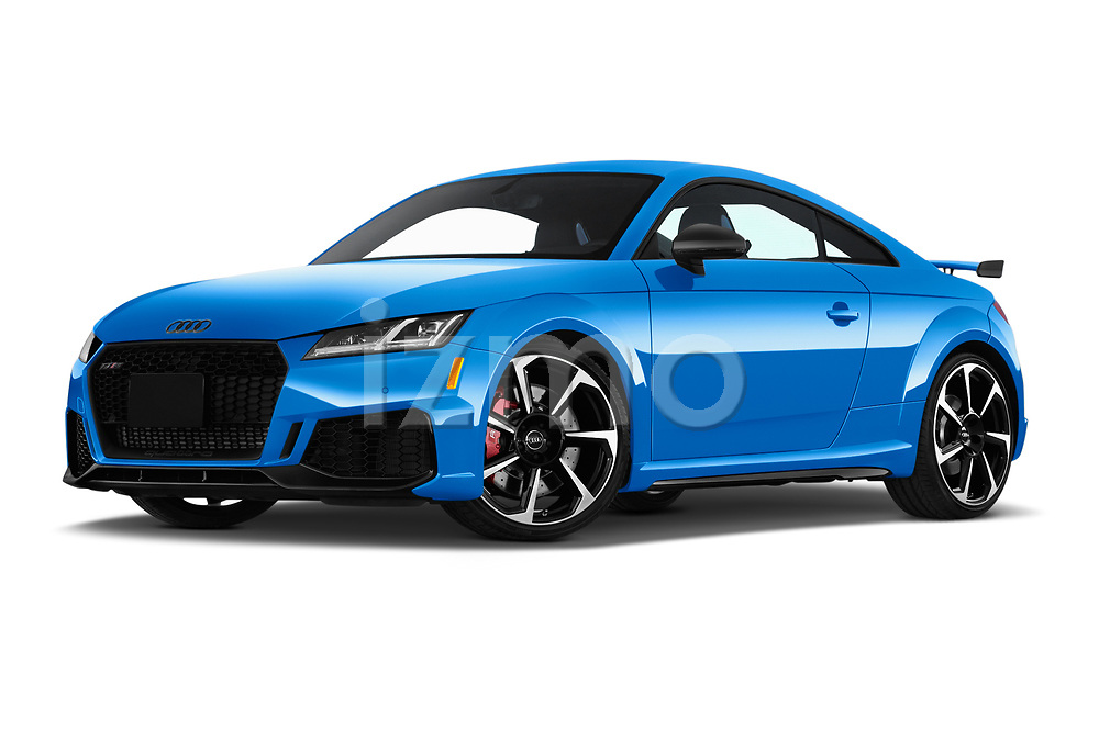 Stock pictures of low aggressive front three quarter view of a 2019 Audi TT RS Base 3 Door Coupe
