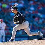 28 August 2016: Colorado Rockies pitcher Adam Ottavino on the mound against the Washington Nationals at Nationals Park in Washington, DC. The Rockies defeated the Nationals 5-3 to take the rubber match of their 3-game series. Mandatory Credit: Ed Wolfstein Photo *** RAW (NEF) Image File Available ***