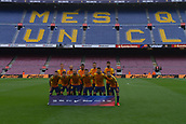 1st October 2017, Camp Nou, Barcelona, Spain; La Liga football, Barcelona versus Las Palmas; FC Barcelona poses for the photographers