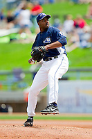West Michigan Whitecaps starting pitcher Montreal Robertson (34) in action against the Quad Cities River Bandits at Fifth Third Ballpark on May 5, 2013 in Comstock Park, Michigan.  The River Bandits defeated the Whitecaps 5-4.  (Brian Westerholt/Four Seam Images)