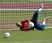 EURO 2012 - POLAND - Gniewino - 13 JUNE 2012 - Spain National Team official MD-1 training. Spanish goalkeeper Pepe Reina.