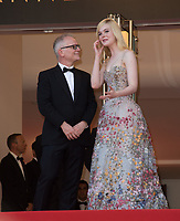 Elle Fanning &amp; Thierry Fremaux at the 70th Anniversary Gala for the Festival de Cannes, Cannes, France. 23 May 2017<br /> Picture: Paul Smith/Featureflash/SilverHub 0208 004 5359 sales@silverhubmedia.com