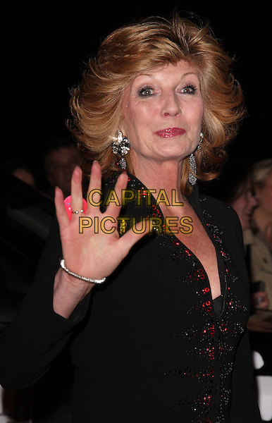 "RULA LENSKA .Attending the ""Born Free - Wild and Live'"" Charity Gala at the Royal Albert Hall, London, England, UK, .November 14th 2009..half length hand waving  black red jacket earrings silver dangly .CAP/ROS.©Steve Ross/Capital Pictures"