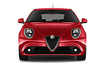 Car photography straight front view of a 2016 Alfaromeo Mito Super 3 Door hatchback Front View