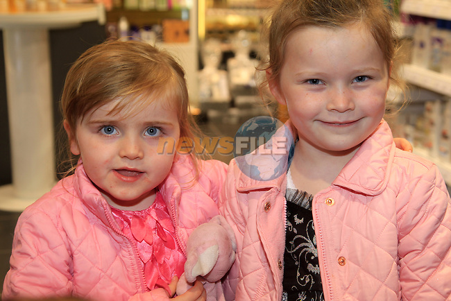 Molly and Daisy Devlin at the opening of the North Road Pharmacy.<br /> Picture: www.newsfile.ie