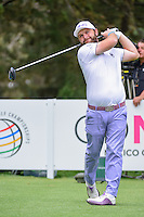 Andy Sullivan (ENG) watches his tee shot on 8 during round 3 of the World Golf Championships, Mexico, Club De Golf Chapultepec, Mexico City, Mexico. 3/4/2017.<br /> Picture: Golffile | Ken Murray<br /> <br /> <br /> All photo usage must carry mandatory copyright credit (&copy; Golffile | Ken Murray)