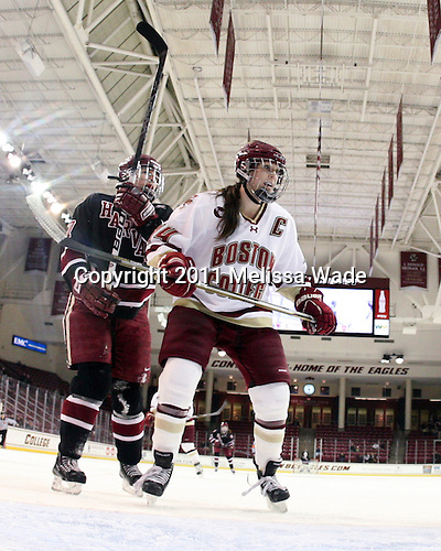?, Katelyn Kurth (BC - 14) - The Boston College Eagles defeated the Harvard University Crimson 3-1 to win the 2011 Beanpot championship on Tuesday, February 15, 2011, at Conte Forum in Chestnut Hill, Massachusetts.