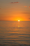 Sunset on the ocean, Cuba, Protected Marine park underwater,