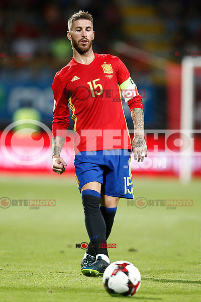 Spain's Sergio Ramos during FIFA World Cup 2018 Qualifying Round match. September 5,2016.(ALTERPHOTOS/Acero)