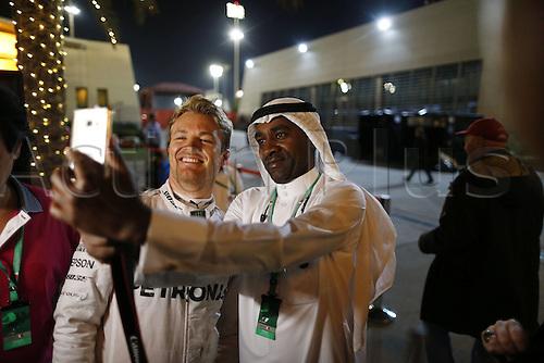 03.04.2016. Sakhir, Bahrain. F1  Grand Prix of Bahrain, 6 Nico Rosberg (GER, Mercedes AMG Petronas Formula One Team) celebrates his win